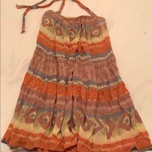 Anthropologie halter dress